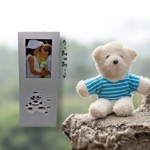 🔴 15/$25. Small Picture Frame w/3D Teddy Bear